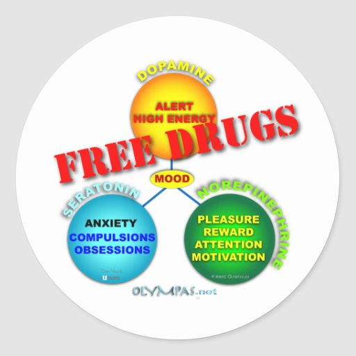 Free Drugs in the Brain Stickers