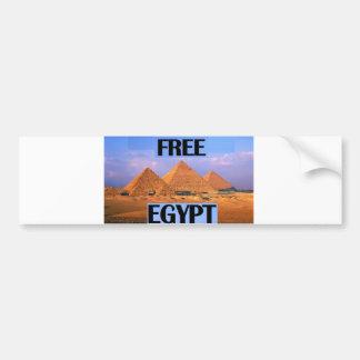 Free Egypt - Featuring the Pyramids Car Bumper Sticker