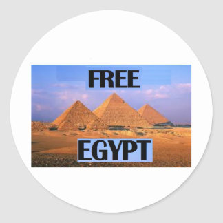 Free Egypt - Featuring the Pyramids Classic Round Sticker