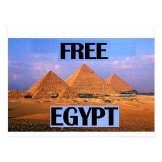 Free Egypt - Featuring the Pyramids Postcard