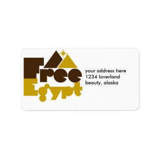 Free Egypt Label