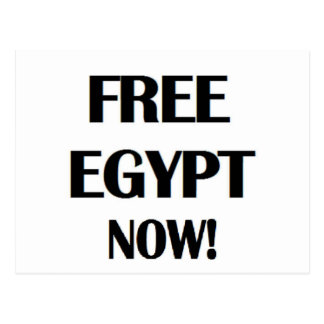 Free Egypt Now! Postcard