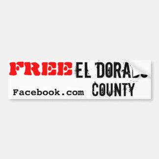 Free El Dorado County Bumper Sticker Car Bumper Sticker