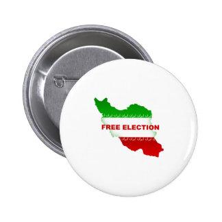 Free Election Pinback Button