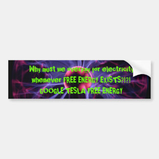 Free Energy Car Bumper Sticker