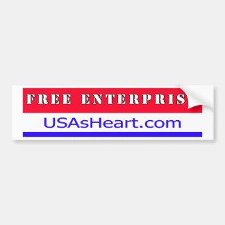 Free Enterprise Entreprenuer USA America Bumper Sticker