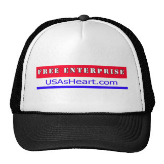 Free Enterprise Entreprenuer USA America Trucker Hats