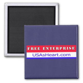 Free Enterprise Entreprenuer USA America Magnet