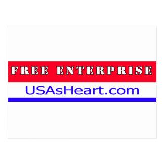 Free Enterprise Entreprenuer USA America Postcard