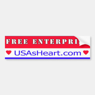 Free Enterprise - Heart of America Bumper Sticker