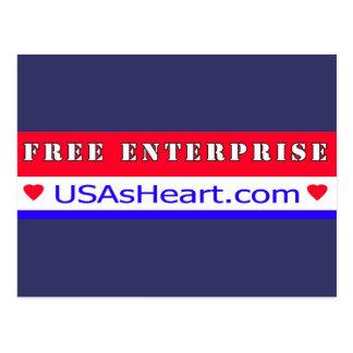 Free Enterprise - Heart of America Post Card