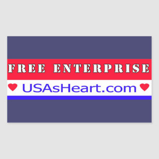 Free Enterprise - Heart of America Rectangular Sticker