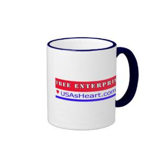 Free Enterprise - Heart of America Ringer Mug