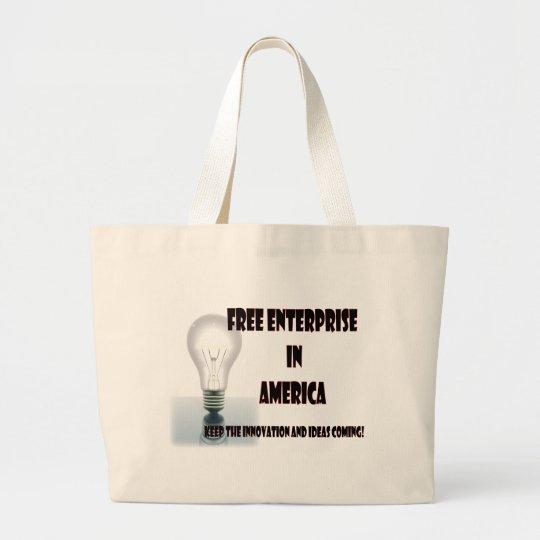 Free Enterprise in America Large Tote Bag