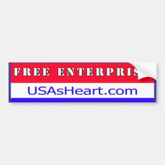 Free Enterprise - The Heart of USA Freedom Bumper Sticker