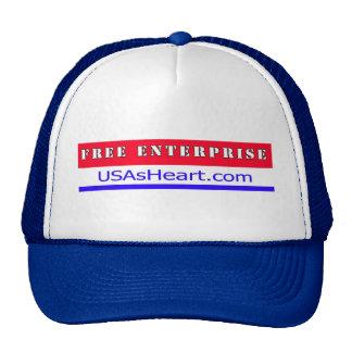 Free Enterprise - The Heart of USA Freedom Trucker Hat