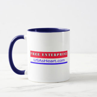 Free Enterprise - The Heart of USA Freedom Mug
