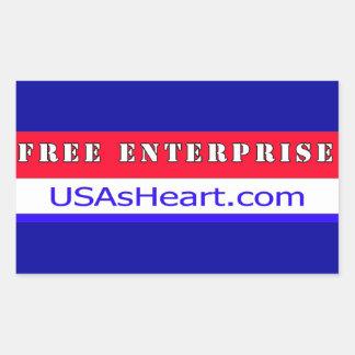Free Enterprise - The Heart of USA Freedom Rectangular Sticker