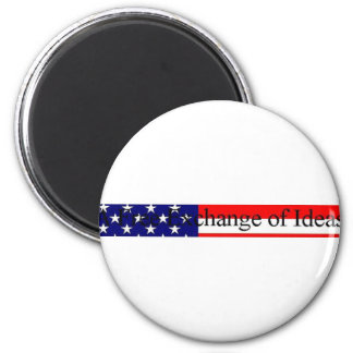 Free Exchange of Ideas 2 Inch Round Magnet