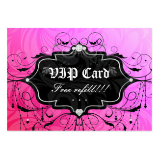 Free Eyelash Refill VIP Gift Card Pink Chandelier Business Card Template