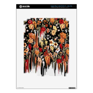 Free Falling Melting florals Decal For iPad 3