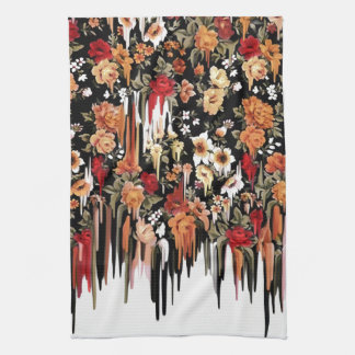Free Falling Melting florals Towel