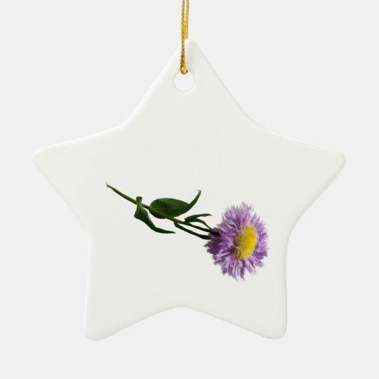 Free Falling Purple Daisy, gifts Ceramic Ornament