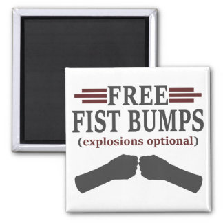 Free Fist Bumps 2 Inch Square Magnet