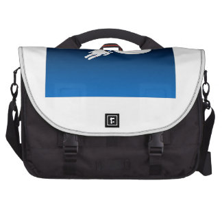 Free Floating Astronaut in Space Laptop Messenger Bag