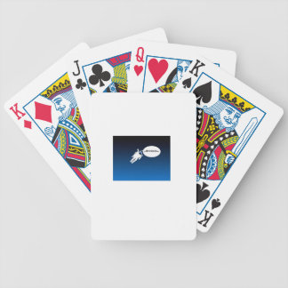 Free Floating Astronaut in Space Bicycle Card Decks