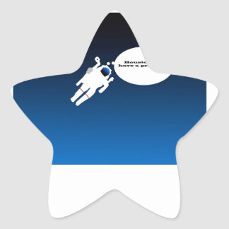 Free Floating Astronaut in Space Star Sticker