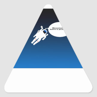 Free Floating Astronaut in Space Triangle Sticker
