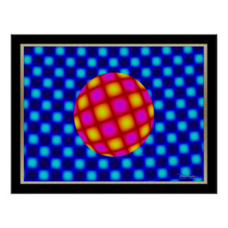 Free Floating Ball Optical Illusion Poster