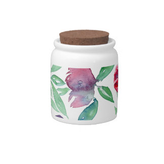 Free Floral - Blue, Purple, Green Vines Greenery Candy Jars
