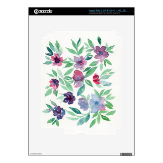 Free Floral - Blue, Purple, Green Vines Greenery Decal For iPad 3