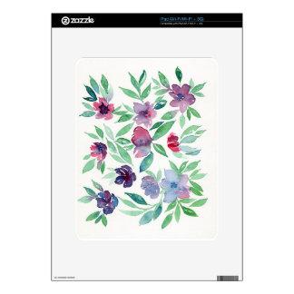 Free Floral - Blue, Purple, Green Vines Greenery iPad Skin