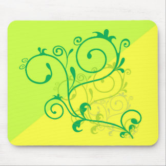 Free-Floral-Graphics.jpg Lemon Lime digital swirls Mousepads