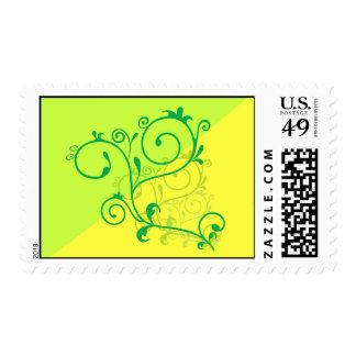 Free-Floral-Graphics.jpg Lemon Lime digital swirls Postage