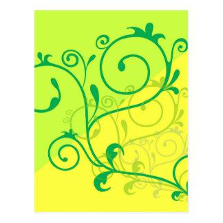 Free-Floral-Graphics.jpg Lemon Lime digital swirls Postcard