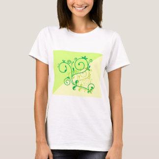 Free-Floral-Graphics.jpg Lemon Lime digital swirls T-Shirt