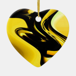 Free Flow of thoughts and mind Double-Sided Heart Ceramic Christmas Ornament
