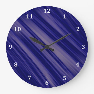 Free Flowing Movement Abstract Large Clock