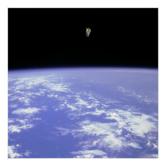 Free-flying Astronaut Poster