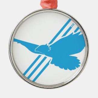 Free Flying - Blue Metal Ornament