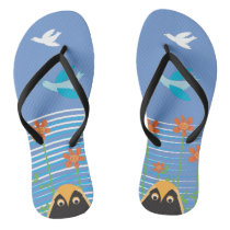 Free Flying with Lucky OWLS Flip Flops