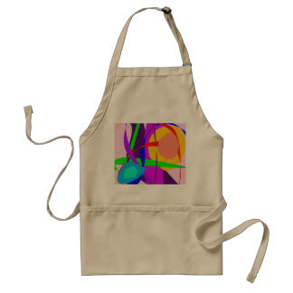 Free Forms and Lines Pink Purple Abstract Painting Aprons