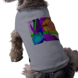 Free Forms and Lines Pink Purple Abstract Painting Doggie Shirt