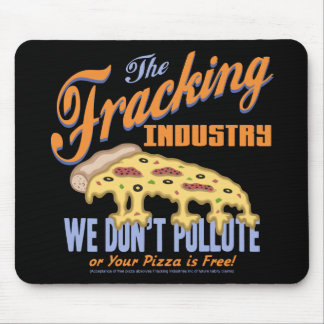 Free Frack Pizza Mouse Pad