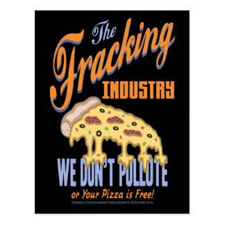 Free Frack Pizza Postcard