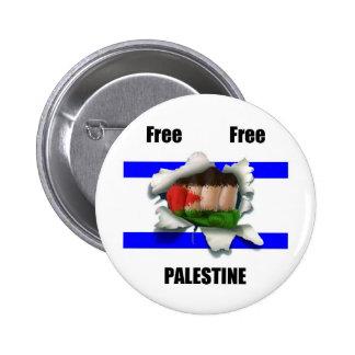 Free Free Palestine Pinback Button